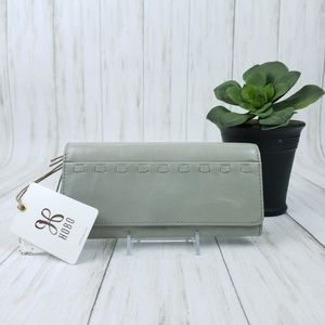 HOBO Rider Leather Wallet Cloud/Light Gray- NWT